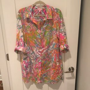 Lilly Pulitzer Natalie shirtdress Cover-Up Large